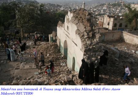 Militan Salafi Hancurkan Masjid Keramat di Yaman